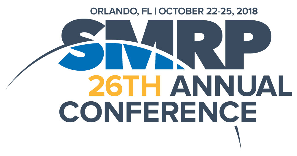 More than 1,000 maintenance and reliability professionals will gather at the 2018 SMRP Annual Conference in October.
